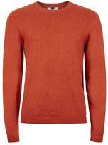 Topman Orange Slim Fit Crew Neck Sweater