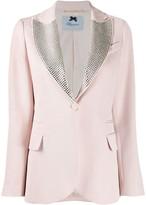 Blumarine Studded Oversized Collar Blazer