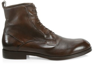 Saks Fifth Avenue COLLECTION Washed Leather Combat Boots