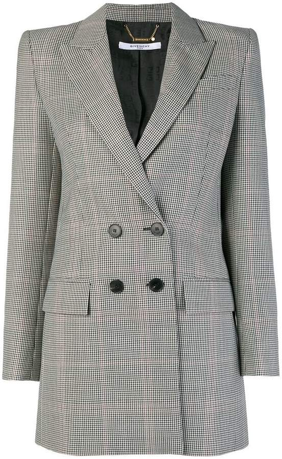 Givenchy houndstooth peaked lapel blazer