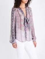 Paige Dion paisley-print silk-chiffon shirt