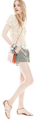 Joie Lace-Crochet Top