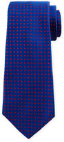 Kiton Dot-Print Silk Tie, Royal