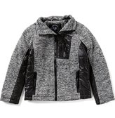 Urban Republic Big Boys 8-20 Melange Fleece Knit Jacket