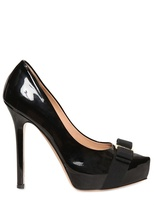 Salvatore Ferragamo 150mm Trilly Patent With Bow Pumps