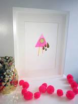 Neon Pineapple 'Tears' Original Mixed Media Art