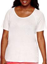 A.N.A a.n.a Short-Sleeve Lace-Inset T-Shirt - Plus