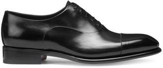 Santoni Lace-Up Patent Leather Dress Shoes