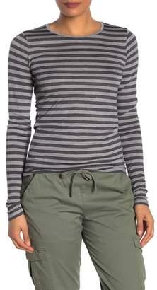 Vince Heather Stripe Crew Neck Shirt