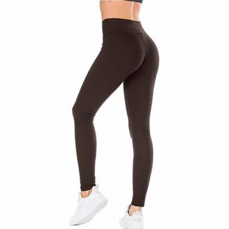 Cicsi Yoga Pants Mallas Push Up De Cintura Alta para Mujer Leggings De Fitness Color Solido-Black Shorts_XL_China