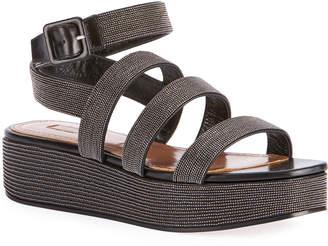 Alaia Beaded Platform Sandals