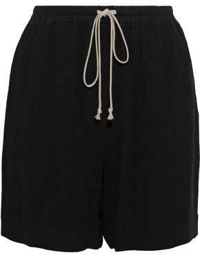 Rick Owens Crinkled-crepe Shorts