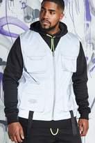 BoohooMAN Big & Tall Quavo Reflective Utility Vest