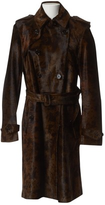 Burberry Brown Leather Coats