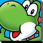 1art1® Super Mario Stretched Canvas Print - Yoshi (16 x 16 inches)