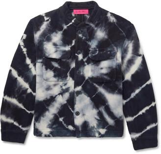 The Elder Statesman Teton Tie-Dyed Organic Cotton-Fleece Jacket