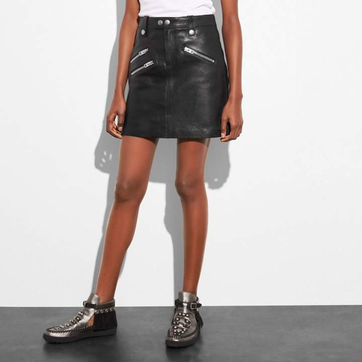 Coach Multi Zip Skirt