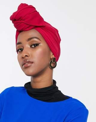 Verona maxi chiffon headscarf-Pink