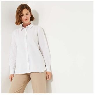 Joe Fresh Women's Linen Blend Shirt, White (Size S)