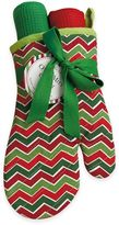 Holiday Chevron 2-Piece Oven Mitt and Kitchen Towel Gift Set