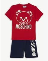 Moschino Logo T-shirt and shorts set 4-12 years