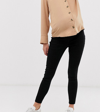 ASOS DESIGN Maternity pull on jegging in clean black with under the bump waistband