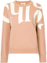 Chloé intarsia logo sweater