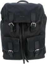 Moncler buckle backpack - men - Leather/Nylon - One Size