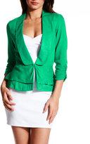Charlotte Russe Shawl-Collar Peplum Blazer