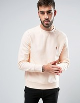 Paul Smith Crew Sweatshirt PS Embroidered in Pink