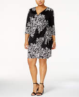 INC International Concepts Plus Size Faux-Wrap Dress, Created for Macy's