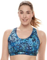 Tek Gear Plus Size Low-Impact Mesh Racerback Sports Bra