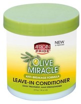 African Pride OLIVE MIRACLE ANTI-BREAKAGE LEAVE-IN CONDITIONER CRèME - 15oz