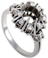 Estate Platinum with 0.35ct Diamond Engagement Ring Size 7.5