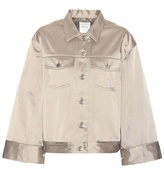 Wood Wood Pauline satin cotton-blend jacket