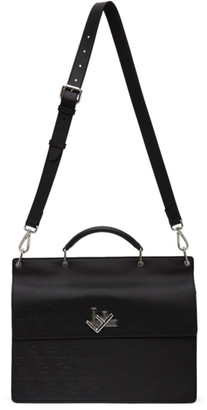 Fendi Black Fade Emboss Briefcase