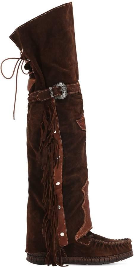 EL VAQUERO 70mm Coleen Suede Over-The-Knee Boots