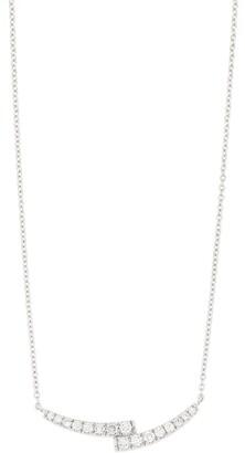 Bony Levy 18K White Gold Audrey Double Curve Diamond Pendant Necklace - 0.25 ctw