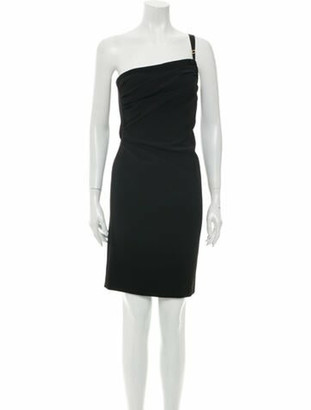 Boutique Moschino One-Shoulder Knee-Length Dress w/ Tags Black
