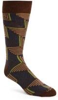 Lorenzo Uomo Men's Angled Herringbone Socks