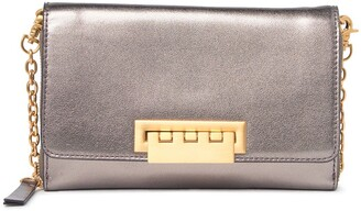 ZAC Zac Posen Eartha Medium Metallic Leather Wallet on Chain Crossbody Bag