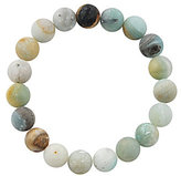 Barse Matte Amazonite Bead Stretch Bracelet