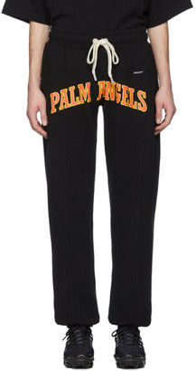 Palm Angels Black New College Lounge Pants