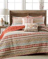 CLOSEOUT! Martha Stewart Collection 100% Cotton Silver City Stripe King Quilt, Created for Macy's