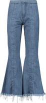 Marques Almeida Marques' Almeida Frayed flared jeans