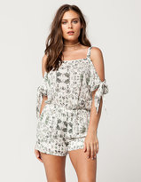 Mimichica MIMI CHICA Floral Cold Shoulder Womens Romper