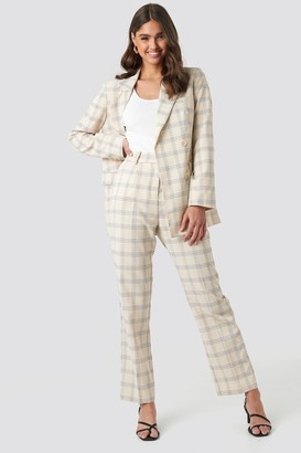 NA-KD Light Checkered Suit Pants