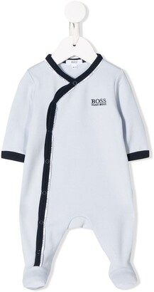 Boss Kidswear Off-Centre Fastened Logo Body