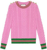 Gucci Merino wool with lurex Web