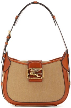 Etro Pegaso canvas and leather bag